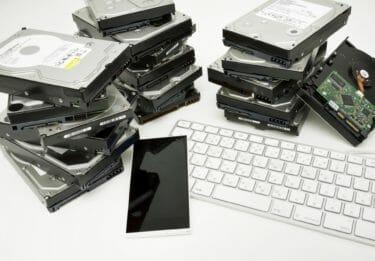 PCのデータを保管するハードディスクの完全削除、断捨離のイメージ