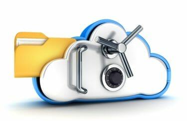 クラウドサービスの安全性のイメージイラスト