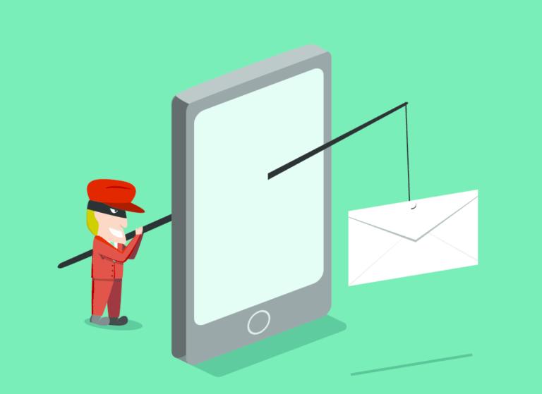 スミッシング(SMSフィッシング詐欺)メールのイメージイラスト