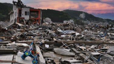東日本大震災の津波の惨状