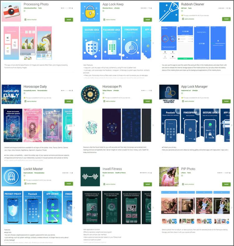 Google Playストアで総計で580万回もダウンロードされている9個の不正アプリ